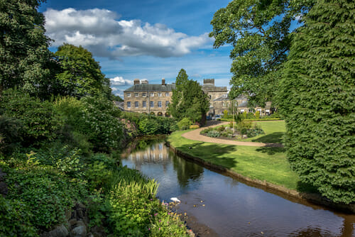 Buxton from the park gardens in The Peak District